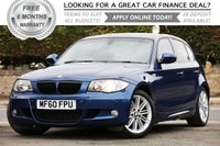 USED 2010 60 BMW 1 SERIES 2.0 118D M SPORT 5d 141 BHP +++ FREE 6 months Autoguard Warranty included in screen price +++