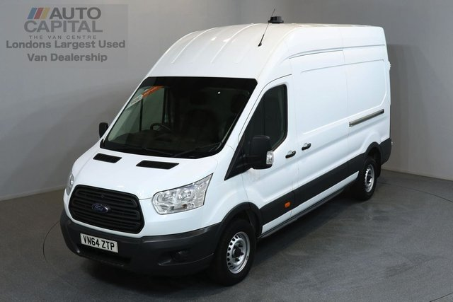 2014 64 FORD TRANSIT 2.2 350 124 BHP L3 H3 LWB HIGH ROOF ONE OWNER FROM NEW, SERVICE HISTORY