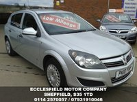 2010 VAUXHALL ASTRA 1.6 LIFE A/C 5d 114 BHP £SOLD