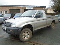 2005 MITSUBISHI L200 2.5 4WORK GL LWB 4WD 1d 114 BHP £3495.00