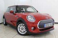 USED 2014 64 MINI HATCH COOPER 1.5 COOPER 3DR 134 BHP MINI SERVICE HISTORY + HALF LEATHER SEATS + BLUETOOTH + CRUISE CONTROL + MULTI FUNCTION WHEEL + CLIMATE CONTROL + 15 INCH ALLOY WHEELS