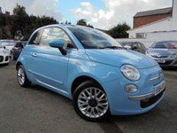 USED 2014 64 FIAT 500 1.2 LOUNGE 3d 69 BHP ***FAB COLOUR - MAIN DEALER HISTORY***