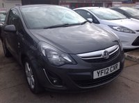 USED 2012 12 VAUXHALL CORSA 1.2 SXI AC 3d 83 BHP Alloys, air/con, great value, superb.
