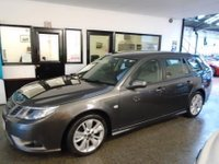 USED 2010 60 SAAB 9-3 1.9 TURBO EDITION TTID 5d 160 BHP Finished in titan grey with heated black leather trim, 6 Previous Services,  Parking Assistance, Cruise Control, bluetooth phone, detachable tow bar and dog guard with rear protective mat/boot cover - serviced by Saab @ 13179/31034 then independently @ 42549/52315/61831/68950 miles. Excellent order for miles, nothing requires body shop attention. Will be supplied with a service, 12 months MOT and a 6 month warranty. Drives well, everything works. Saab and two previous private owners.