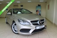 USED 2013 63 MERCEDES-BENZ E CLASS 2.1 E250 CDI AMG SPORT 2d AUTO 204 BHP SATELLITE NAVIGATION, PARK ASSIST, ELEC PANORAMIC GLASS SLIDING SUNROOF, 18 INCH AMG DOUBLE SPOKE ALLOYS, HEATED FRONT SEATS - STUNNING COLOUR COMBINATION