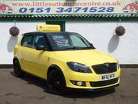 USED 2011 61 SKODA FABIA 1.2 MONTE CARLO TSI 5d 105 BHP FULL HISTORY, 2 OWNERS, LIMITED EDITION