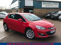 USED 2014 14 VAUXHALL ASTRA 1.6 ELITE 5 Door 113 BHP Power Red Black Heated Leather Huge Spec Inc Full Black Leather Heated Seats Air Con Front & Rear Heated Screen Ex Motability Car