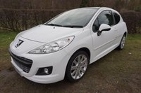 "USED 2012 12 PEUGEOT 207 1.6 HDI ALLURE 3d 92 BHP £30 TAX-PAN ROOF-17"" ALLOYS Service History,Panoramic Glass Roof, £30 Road TAX"