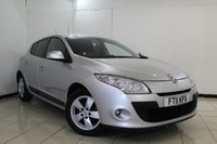 USED 2011 11 RENAULT MEGANE 1.6 DYNAMIQUE TOMTOM VVT 5DR 110 BHP SERVICE HISTORY + SAT NAVIGATION + BLUETOOTH + AIR CONDITIONING + 16 INCH ALLOY WHEELS