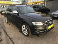 USED 2015 15 AUDI Q5 3.0 SQ5 TDI QUATTRO 5 DOOR AUTO 309 BHP IN METALLIC GREY WITH 37000 MILES APPROVED CARS ARE PLEASED TO OFFER THIS AUDI Q5 3.0 SQ5 TDI QUATTRO 5 DOOR AUTO 309 BHP IN METALLIC GREY WITH ONLY 37000 MILES IN IMMACULATE CONDITION WITH A FULL AUDI SERVICE HISTORY A STUNNING 4X4 SUV WITH  A HUGE SPEC INCLUDING A FULL BLACK LEATHER INTERIOR,SAT NAV,BLUETOOTH AND SO MUCH MORE ..