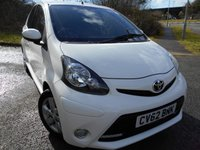 2012 TOYOTA AYGO 1.0 VVT-I FIRE 5d 67 BHP       ** £0 ROAD TAX VEHICLE , IN WHITE , ONLY 27K ** £4995.00