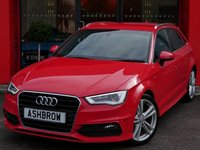 USED 2014 14 AUDI A3 SPORTBACK 2.0 TDI S LINE 5d AUTO 150 S/S £30 ROAD TAX, FULL SERVICE HISTORY, UPGRADE COMFORT PACK, UPGRADE CRUISE, UPGRADE REAR PARKING SENSORS, UPGRADE ALUMINIUM ROOF RAILS, UPGRADE PRIVACY GLASS, DAB, BLUETOOTH PHONE & AUDIO STREAMING, XENON HEADLIGHTS W/ LED DAYTIME RUNNING LIGHTS, AUDI DRIVE SELECT, AUTO LIGHTS + WIPERS, TYRE PRESSURE MONITORING, DUAL ZONE CLIMATE A/C, AUDI MUSIC INTERFACE FOR IPOD / USB, AUTO DIMMING REAR VIEW MIRROR, DIGITAL SPEED DISPLAY, ELECTRICALLY ADJUSTABLE HEATED DOOR MIRRORS