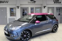 USED 2012 61 CITROEN DS3 1.6 THP DSPORT 3d 156 BHP HALF BLACK LEATHER SEATS + BLUETOOTH + CRUISE CONTROL + 17 INCH ALLOYS + PINK COLOR CODED ROOF/WING MIRRORS + PINK DASHBOARD + LED DAY TIME RUNNING LIGHTS + TINTED REAR GLASS + AUTOMATIC AIR CONDITIONING