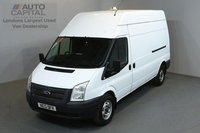 USED 2013 13 FORD TRANSIT 2.2 350 124 BHP L3 H3 LWB HIGH ROOF ONE OWNER FROM NEW, FULL SERVICE HISTORY