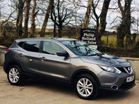 USED 2016 NISSAN QASHQAI 1.5 DCI ACENTA SMART VISION 5d 108 BHP Front / Rear parking sensors, 1 Owner, Full Nissan service history