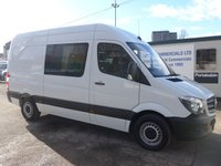 USED 2015 15 MERCEDES-BENZ SPRINTER 313 CDI MWB 6 SEATER CREW CAB, 130 BHP [EURO 5], 1 COMPANY OWNER