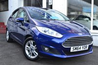 USED 2015 64 FORD FIESTA 1.2 ZETEC 5d 81 BHP STUNNING FORD FIESTA 5 DOOR IN DEEP IMPACT BLUE