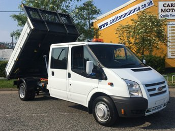 2014 FORD TRANSIT 2.2 125 T350 Lwb Double Cab Tipper / Rear Tool store DRW Low Mileage One stop Body Delivery T,B,A £12950.00