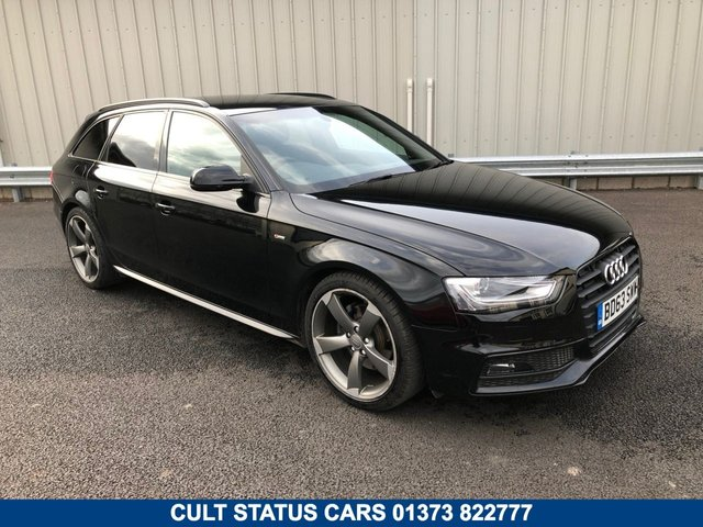 2014 63 AUDI A4 2.0 AVANT ESTATE TDI S LINE BLACK EDITION AUTO 150 BHP