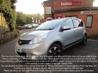 2012 NISSAN NOTE 1.4 N-TEC PLUS 5d 88 BHP £5695.00