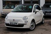 USED 2012 12 FIAT 500 1.2 LOUNGE 3d 69 BHP £30 ROAD TAX ** FSH ** LOW INSURANCE ** SUNROOF ** BLUETOOTH