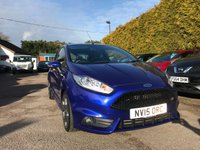 USED 2015 15 FORD FIESTA 1.6 ST-2 3d 180 BHP WITH STYLE PACK AND PRIVACY GLASS NO DEPOSIT  PCP/HP FINANCE ARRANGED, APPLY HERE NOW