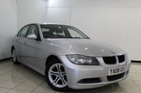 USED 2008 08 BMW 3 SERIES 2.0 320I SE 4DR 169 BHP SERVICE HISTORY + LEATHER SEATS + SAT NAVIGATION PROFESSIONAL + BLUETOOTH + PARKING SENSOR + CRUISE CONTROL + MULTI FUNCTION WHEEL + 16 INCH ALLOY WHEELS