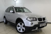 USED 2007 07 BMW X3 2.0 D SE 5DR 148 BHP FULL SERVICE HISTORY + CRUISE CONTROL + PARKING SENSOR + MULTI FUNCTION WHEEL + CLIMATE CONTROL + 17 INCH ALLOY WHEELS