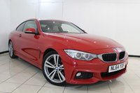 USED 2014 64 BMW 4 SERIES 2.0 425D M SPORT 2DR 215 BHP HEATED LEATHER SEATS + SAT NAVIGATION PROFESSIONAL + PARKING SENSOR + BLUETOOTH + CLIMATE CONTROL + CRUISE CONTROL + MULTI FUNCTION WHEEL + 18 INCH ALLOY WHEELS