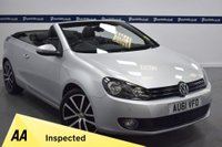 USED 2011 61 VOLKSWAGEN GOLF 1.4 GT TSI 2d 160 BHP CONVERTIBLE (BLACK LEATHER INTERIOR)