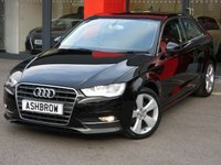 USED 2014 14 AUDI A3 1.6 TDI SPORT 3d 110 S/S DAB DIGITAL RADIO, BLUETOOTH PHONE & MUSIC STREAMING, AUDI MUSIC INTERFACE FOR IPOD/USB DEVICES (AMI), MANUAL 6 SPEED GEARBOX, START STOP TECHNOLOGY, FRONT FOG LIGHTS, HEADLAMP WASHERS, 17 INCH 5 SPOKE ALLOY WHEELS, GREY CLOTH INTERIOR, SPORT SEATS, LEATHER 3 SPOKE SPORT MULTIFUNCTION STEERING WHEEL, AUDI DRIVE SELECT, DUAL CLIMATE AIR CON, CD HIFI WITH 2x SD CARD READERS, ELECTRIC WINDOWS, ELECTRIC HEATED DOOR MIRRORS, FOLDING REAR SEATS, ISO FIX. 1 OWNER, FULL SERVICE HISTORY, £0 ROAD TAX