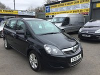 USED 2013 13 VAUXHALL ZAFIRA 1.6 EXCLUSIV 5d 113 BHP 7 SEATER IN SOLID BLACK AND ONLY 1 OWNER APPROVED CARS ARE PLEASED TO OFFER THIS VAUXHALL ZAFIRA 1.6 EXCLUSIV 5d 113 BHP 7 SEATER IN SOLID BLACK AND ONLY PREVIOUS OWNER WITH A FULL SERVICE HISTORY SERVICED AT 16K,36K,53K AND 71K AN IDEAL 7 SEATER FOR THE SPRING AND THE START OF THE FAMILY HOLIDAYS..