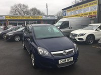USED 2014 14 VAUXHALL ZAFIRA 1.7 EXCLUSIV CDTI 5 DOOR 123 BHP IN BLUE WITH 7 SEATS . APPROVED CARS ARE PLEASED TO OFFER THIS ZAFIRA 1.7 EXCLUSIV CDTI 5 DOOR 123 BHP IN BLUE WITH 7 SEATS THE CARS A 1 OWNER WITH A FULL SERVICE HISTORY SERVICED AT14K,29K,45K AND 61K IN IMMACULATE CONDITION INSIDE AND OUT AN IDEAL FAMILY 7 SEATER FOR THE SPRING AS THE HOLIDAYS ARE COMING.