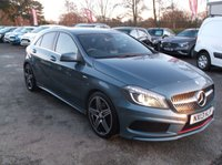 2013 MERCEDES-BENZ A CLASS 2.0 A250 BLUEEFFICIENCY ENGINEERED BY AMG 5d AUTO 211 BHP £15000.00