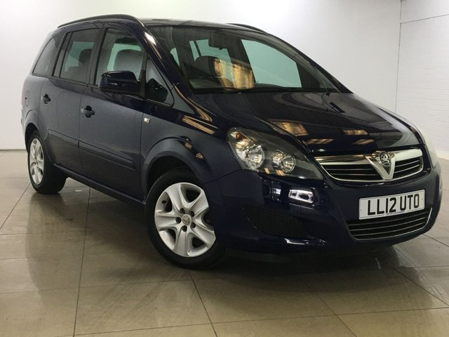 View our 2012 12 VAUXHALL ZAFIRA 1.6 EXCLUSIV 5d 113 BHP