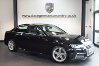 USED 2016 16 AUDI A4 2.0 TDI S LINE 4DR 148 BHP + FULL AUDI SERVICE HISTORY + FULL LEATHER INTERIOR + BLUETOOTH + SPORT SEATS + AUTOMATIC AIR CONDITIONING + ELECTRIC MIRRORS + ALLOY WHEELS +