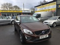 USED 2015 64 VOLVO XC60 2.0 D4 R-DESIGN 5d AUTO 178 BHP IN BRONZE WITH 18 INCH ALLOYS AND FULL SERVICE HISTORY. APPROVED CARS ARE PLEASED TO OFFER THIS VOLVO XC60 2.0 D4 R-DESIGN 5d AUTO 178 BHP IN BRONZE WITH 18 INCH ALLOYS AND A GREAT SPEC WITH A FULL MAIN DEALER SERVICE HISTORY.(THIS CAR IS BEING CLEANED PICTURES AND MORE SPEC WILL BE ADDED SOON)