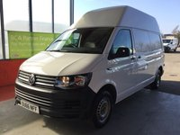 2017 VOLKSWAGEN TRANSPORTER 2.0 TDI BLUEMOTION T28 HIGH ROOF PANEL VAN £13950.00