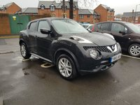USED 2015 65 NISSAN JUKE 1.5 ACENTA DCI 5d 110 BHP CHEAP TO RUN DIESEL WITH AIR CONDITIONING, ALLOY WHEELS AND CLIMATE CONTROL!!..EXCELLENT FUEL ECONOMY!..LOW CO2 EMISSIONS..£20 ROAD TAX...FULL HISTORY...ONLY 11264 MILES FROM NEW!!