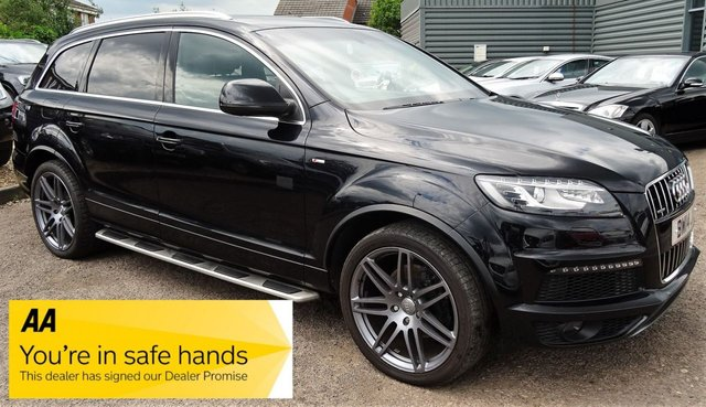 USED 2014 14 AUDI Q7 3.0 TDI QUATTRO S LINE PLUS 5d AUTO 245 BHP 7 SEATS BOSE SOUND SYSTEM 1 PREVIOUS KEEPER VOICE COMMAND 2 KEYS GGOD SPECIFICATION