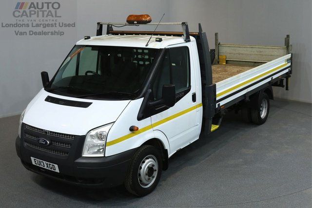 2013 13 FORD TRANSIT 2.2 350 124 BHP L4 EXTRA LWB DROPSIDE LORRY  ONE OWNER FROM NEW, SERVICE HISTORY