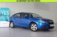 2012 CHEVROLET CRUZE 1.6 LT 5d AUTO 124 BHP £4960.00