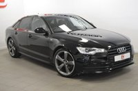 USED 2014 63 AUDI A6 2.0 TDI S LINE BLACK EDITION 4d AUTO [NAV] 175 BHP 20 INCH ALLOYS + SAT NAV + FULL LEATHER + LOW MILES + HISTORY + 2 KEYS