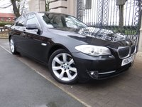 USED 2012 62 BMW 5 SERIES 2.0 520D SE 4d AUTO 181 BHP *** FINANCE & PART EXCHANGE WELCOME *** WIDE SCREEN SAT/NAV  BLUETOOTH PHONE FULL BLACK LEATHER FRONT & REAR PARKING SENSORS
