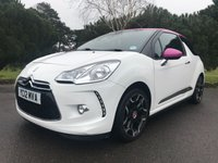 USED 2012 12 CITROEN DS3 1.6 DSTYLE PLUS 3d 120 BHP GREAT LOOKING CAR IN WHITE WITH PINK ROOF AND BLACK SPORTS ALLOYS ONLY 30000 MILES BACKED UP BY FSH