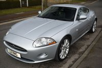 USED 2007 57 JAGUAR XK 4.2 COUPE 2d AUTO 294 BHP FULL SERVICE HISTORY, SAT NAV, BLUETOOTH, MEMORY SEATS, 6 CD CHANGER