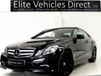 2011 MERCEDES-BENZ E CLASS 3.0 E350 CDI BLUEEFFICIENCY SPORT 2d AUTO 231 BHP £11991.00