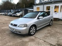 2003 VAUXHALL ASTRA 1.8 COUPE CONVERTIBLE 16V 2d 125 BHP £991.00