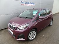 2016 PEUGEOT 108 1.0 ACTIVE 5d 68 BHP FREE TAX, ONLY 1500 MILES, UNDER WARRANTY £7995.00