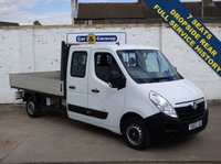 USED 2013 63 VAUXHALL MOVANO 2.3 F3500 L3H1 CRC CDTI 4d 123 BHP Full History 7 Seats Dropside 0% Deposit Finance Available